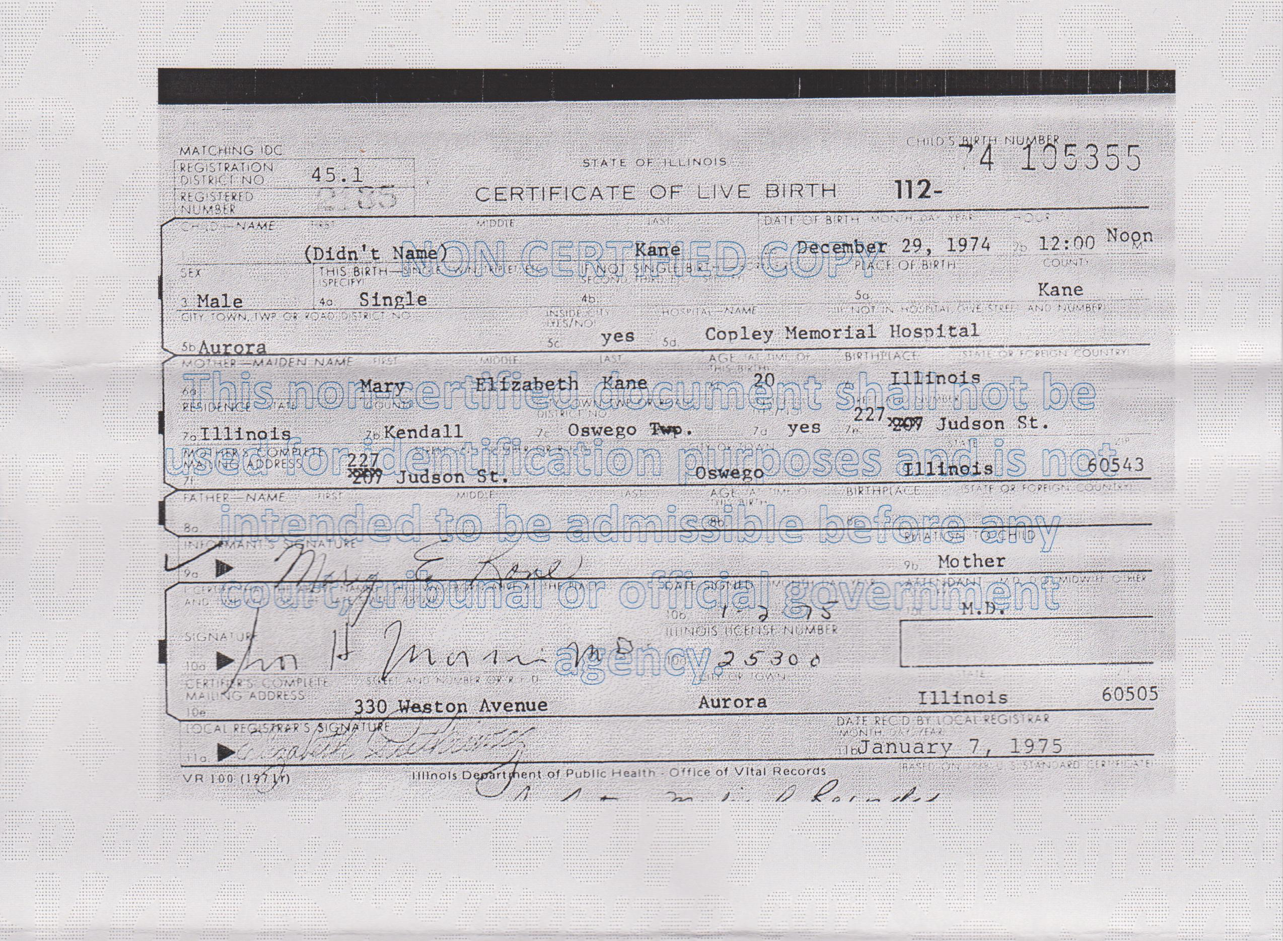 Born 1970 1979 illinois gs adoption registry somebody with access to illinois birth records sent me this they are the ones found but dont match the age on the obc mary elizabeth kane b aiddatafo Image collections